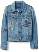 Gap GapKids | Disney Mickey Mouse embroidered denim jacket