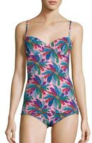 Emilio Pucci Bermuda Print One-Piece Swimsuit