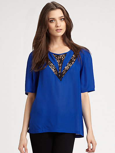 Autograph Addison Lace-Trim Top