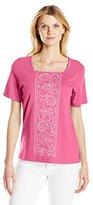 Alfred Dunner Women's Seashell T Shirt