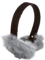 Adrienne Landau Grey Fur Earmuffs