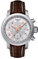 Tissot Prc200 Chronograph Lady Leather Strap Watch, 34Mm