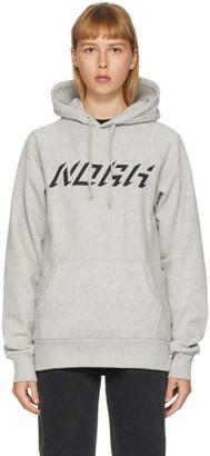 Noah NYC Grey Logo Raglan Hoodie