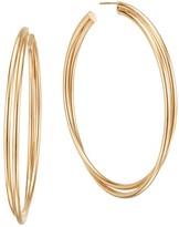 Lana Royale 14K Yellow Gold Double Twist Hoop Earrings