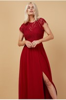 Thumbnail for your product : Little Mistress Bridesmaid Sonja Red Lace Maxi Dress
