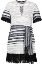 Derek Lam 10 Crosby fringed woven dress - women - Cotton/Polyamide/Polyacrylic - 0