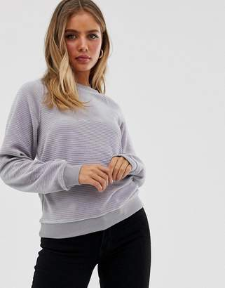 New Look velvet sweatshirt-Grey