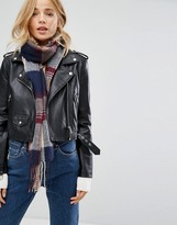 New Look Lightweight Check Scarf