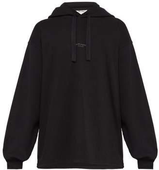 Acne Studios Fagen Cotton Hooded Sweatshirt - Mens - Black