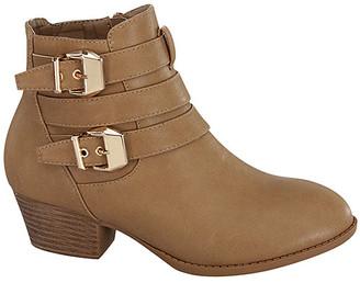 Top Moda Women's Casual boots KHAKI - Khaki Buckle Bootie - Women