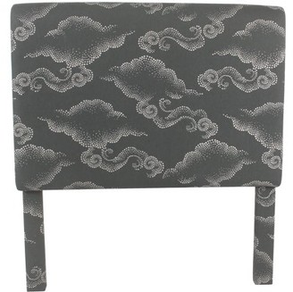 HomePop Twin Headboard, Grey Clouds