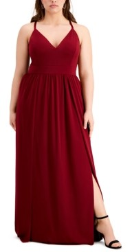 Emerald Sundae Trendy Plus Size Lace-Back Gown