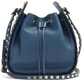 Valentino Rockstud leather cross-body bucket bag