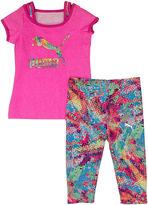 Puma Tee and Leggings Set - Preschool Girls 4-6x