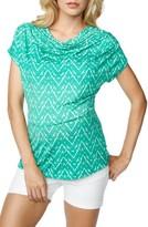 Maternal America Women's Cowl Neck Maternity/nursing Top