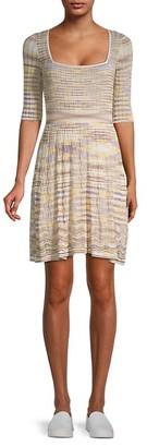 M Missoni Striped Mini Dress