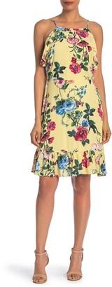 J.o.a. Floral Ruffle Dress