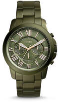 Fossil Grant Chronograph Olive Green Stainless Steel Watch