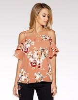 Quiz Floral Print Short Sleeve Top