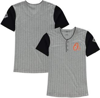 Majestic Youth Gray Baltimore Orioles Life or Death Henley T-Shirt