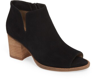 Blondo Nappa Waterproof Peep Toe Bootie