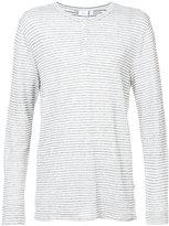 Onia Miles Henley striped long sleeve shirt