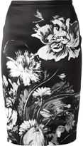 Roberto Cavalli floral print pencil skirt