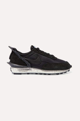 Nike Undercover Daybreak Leather-trimmed Shell And Suede Sneakers - Black