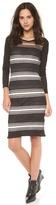 Derek Lam 10 Crosby Sheer Stripe Sweater Dress