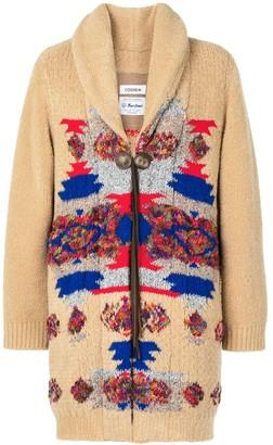 Coohem Oversized Geometric Cardigan Coat
