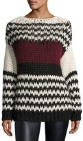BA&SH Bangs Long-Sleeve Oversized Cable-Knit Sweater