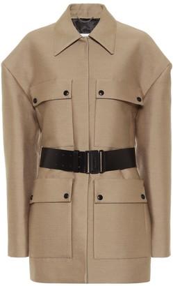 Magda Butrym Wool, cotton and silk coat