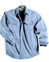 Tri-Mountain Men's Big And Tall Denim Shirt Jacket