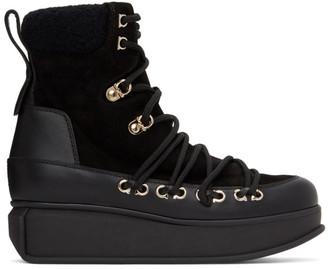 Salvatore Ferragamo Black Milo Ankle Boots