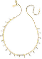 Kate Spade Gold-Tone Dangle Imitation Pearl Collar Necklace