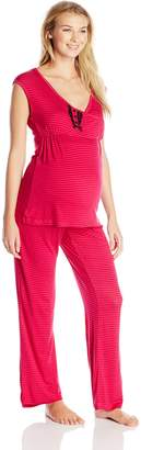 Lamaze Women's Maternity Tank and Pant Pajama Set