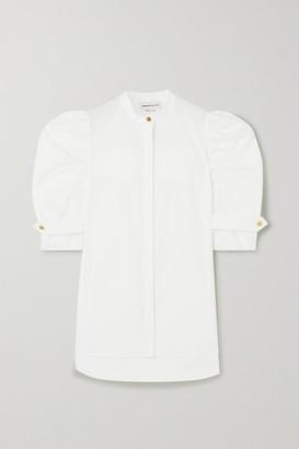 Alexander McQueen Cotton-poplin Blouse - White