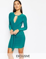 Club L Tie Knot Detail Mini Dress