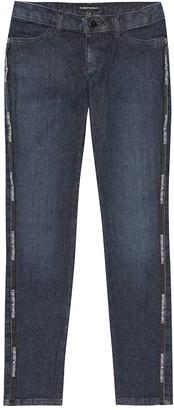 Emporio Armani Kids Logo stretch-cotton jeans