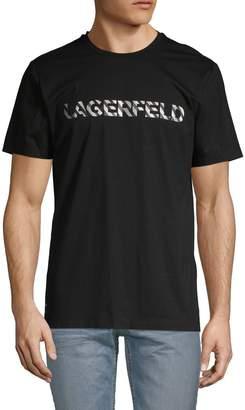 Karl Lagerfeld Paris Logo Short-Sleeve Cotton Tee
