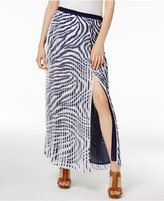 MICHAEL Michael Kors Pleated Animal-Print Maxi Skirt