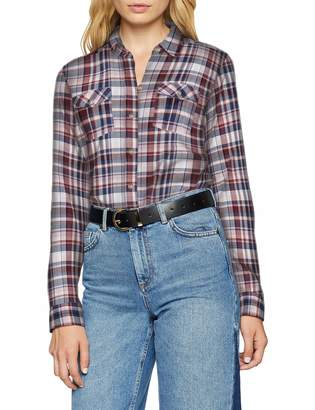 Eddie Bauer Women's Packbare Bluse Langarm-karierte Baumwollbluse mit Stretchanteil gerundetem Saum und Zwei aufgesetzten Brusttaschen-XS-XXL Blouse