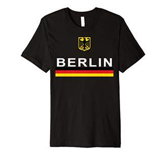 Keepsake Berlin Germany Sporty German Flag and Emblem Premium T-Shirt