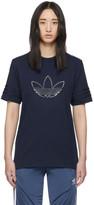 adidas Navy Outline Trefoil T-Shirt