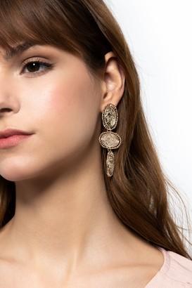 Topshop 3 Coin Drop Earrings