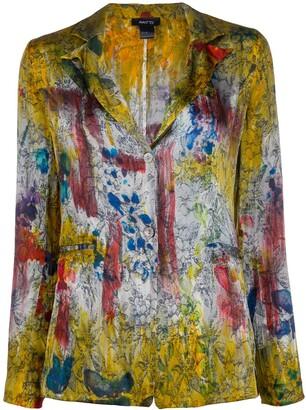 Avant Toi Printed Distressed Style Blazer