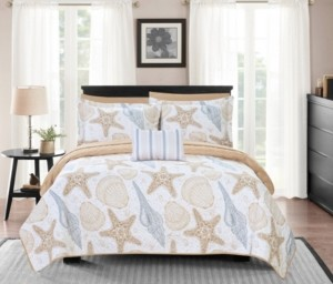 Chic Home Maritime 8 Piece King Bed in a Bag Quilt Set Bedding