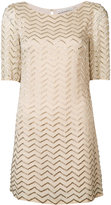 Alice + Olivia Alice+Olivia - metallic zigzag T-shirt dress - women - Polyester/Spandex/Elastane/Viscose - 0