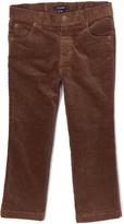 E-Land Kids Dark Khaki 16-Wale Slim Corduroy Pants - Boys