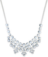 Charter Club Charter-Club Silver-Tone Multi-Crystal Statement Necklace, Only at Macy's